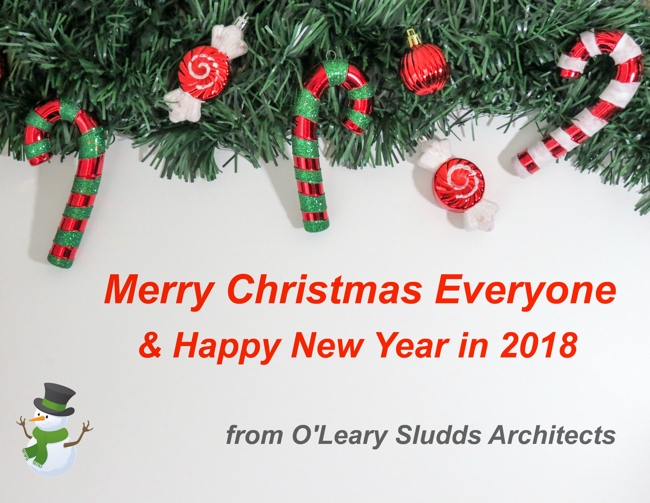 Christmas 2017 Oleary Sludds Architects