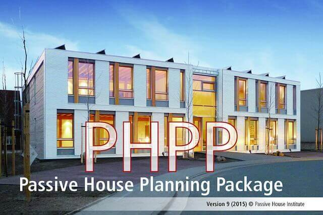 Exemplar passive house with PHPP, Passive House Planning Pack written across image.